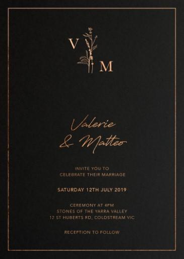 Dark Romance - wedding invitations