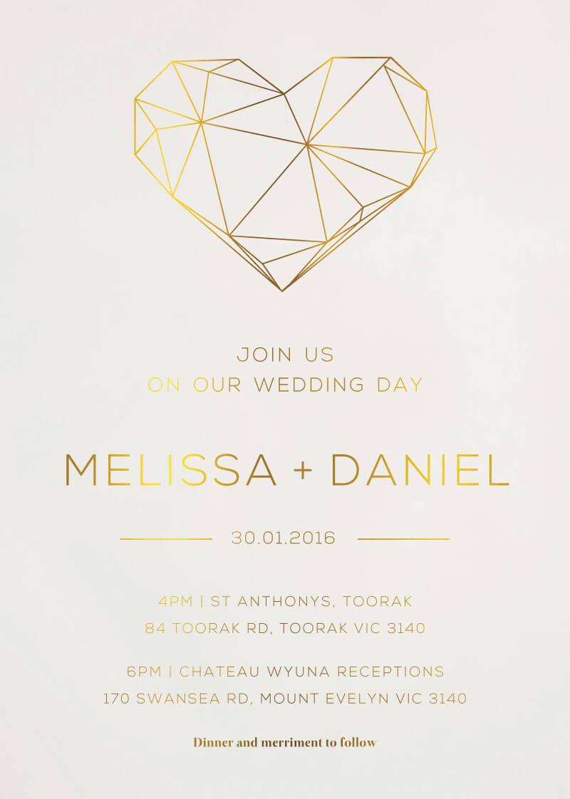 Diamond Love - Wedding Invitations