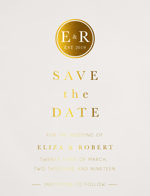 Classic Monogram Save The Date - Save The Date