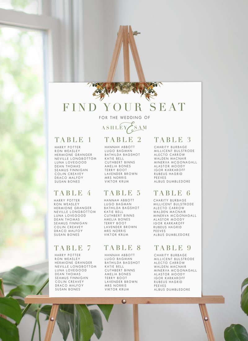 A Native Circle - Seating Charts