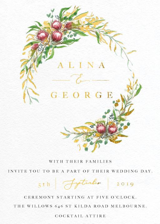 Sarulean - wedding invitations