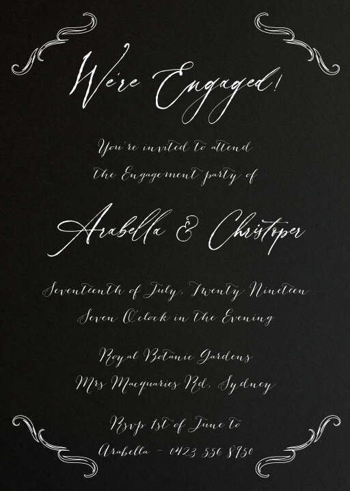 Nightwish - engagement invitations