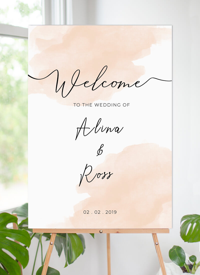 Rosey - Wedding Signs