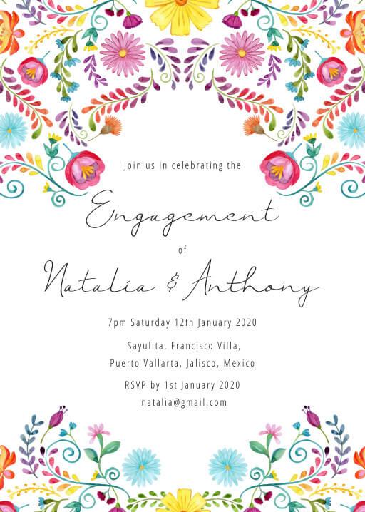Fiesta de Bodas - engagement invitations