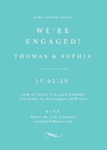Fifth Avenue - engagement invitations