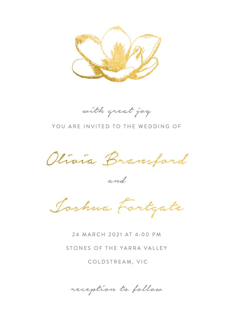 Steel Magnolia - Wedding Invitations