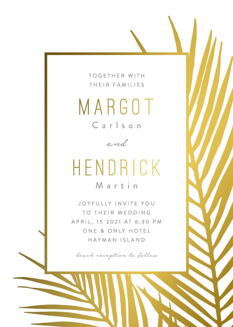 Chic Palms - Wedding Invitations