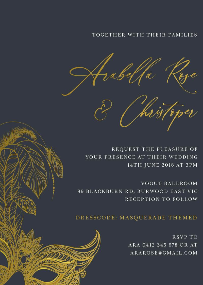 Masquerade - Wedding Invitations