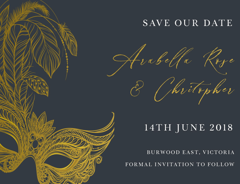 Masquerade - Save The Date