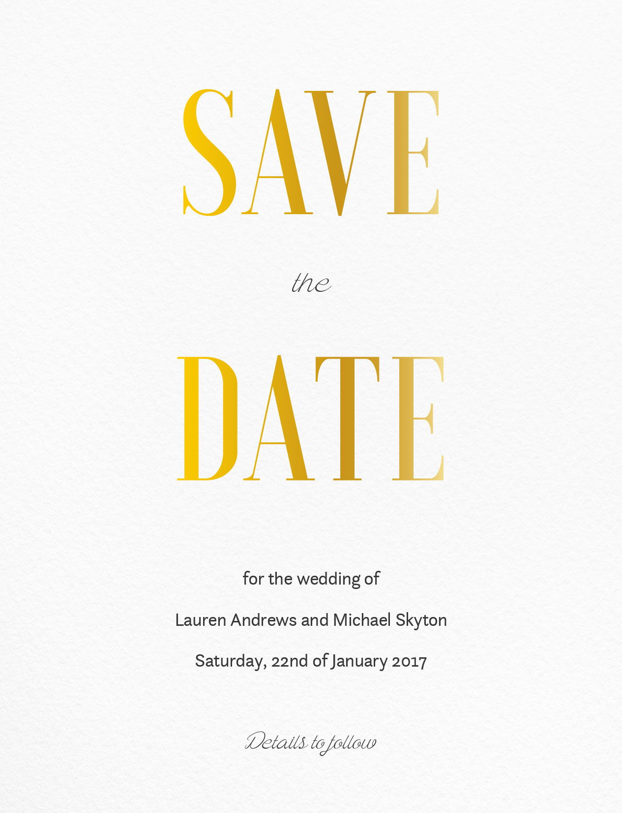 Paper Plane - Save The Date