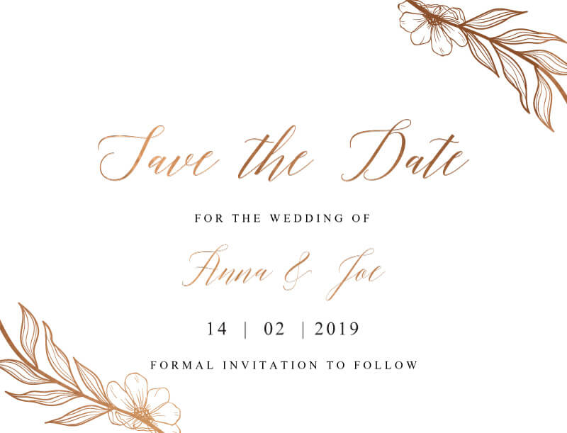Copper Feathers - Save The Date