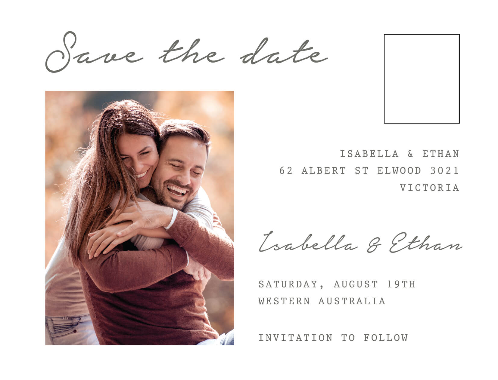 Classic Letter - Save The Date