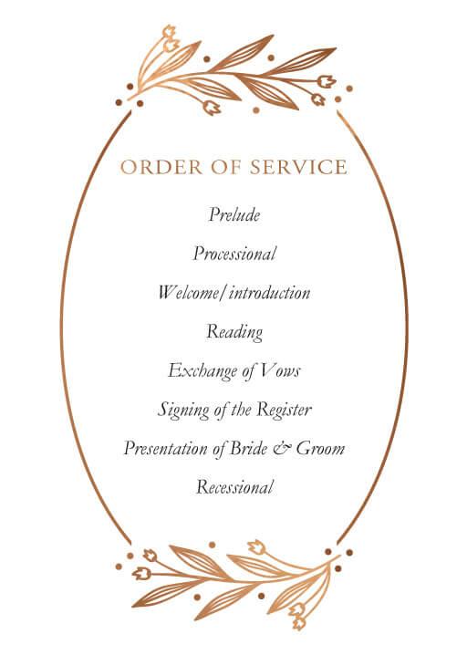 Resplendent - Order of Service