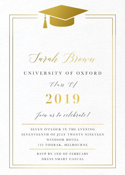 Oxford - Graduation Invitations & Announcements