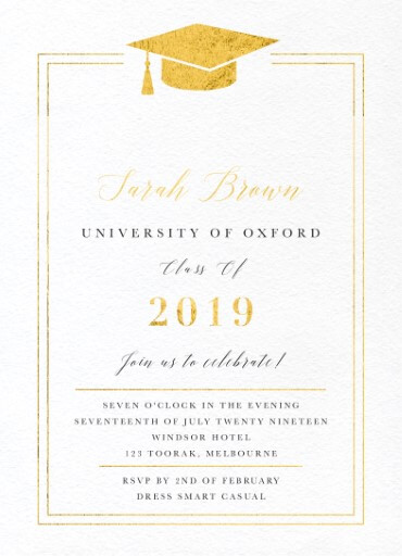 Oxford - Graduation Invitations & Announcements