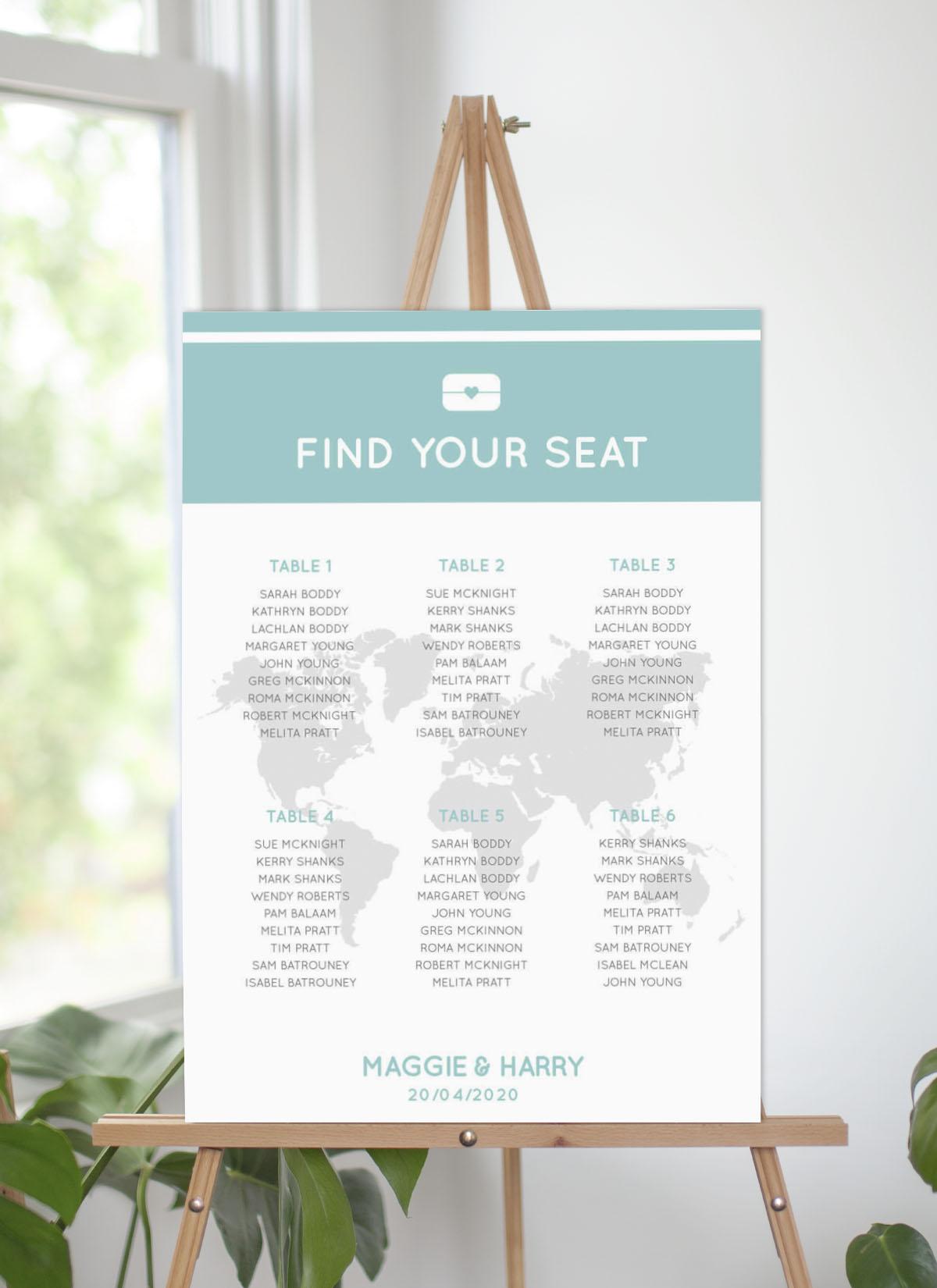 Blue Paradise - Seating Charts