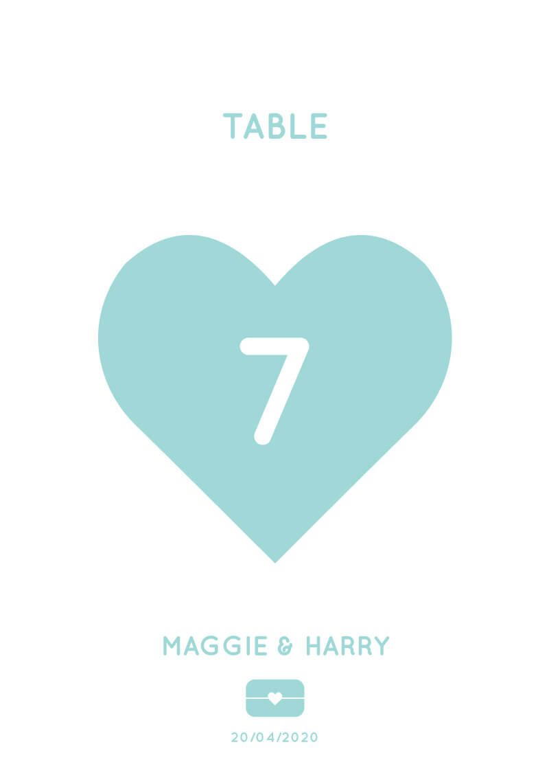 Blue Paradise - Table Numbers