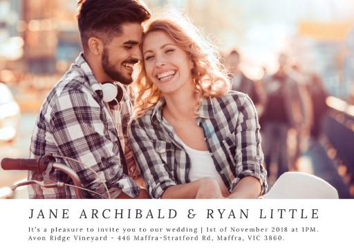 Delicate Lavender Wedding Invitations - wedding invitations