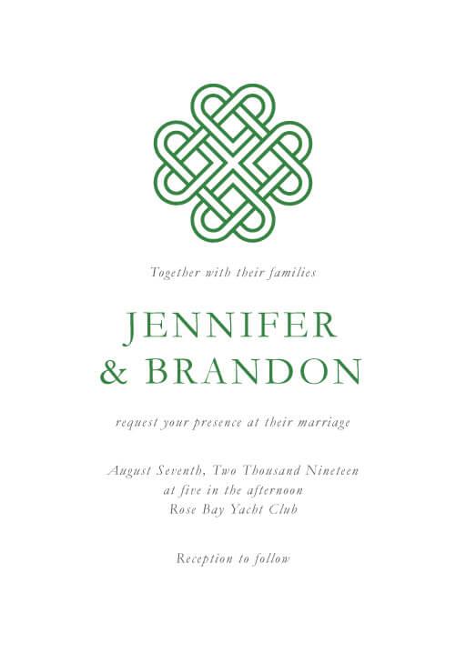 Celtic Love Knot Wedding Invitations - wedding invitations