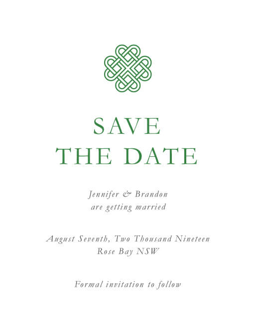 Celtic Love Knot - Save The Date
