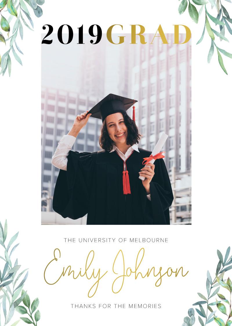 Girl Grad - Graduation Invitations & Announcements