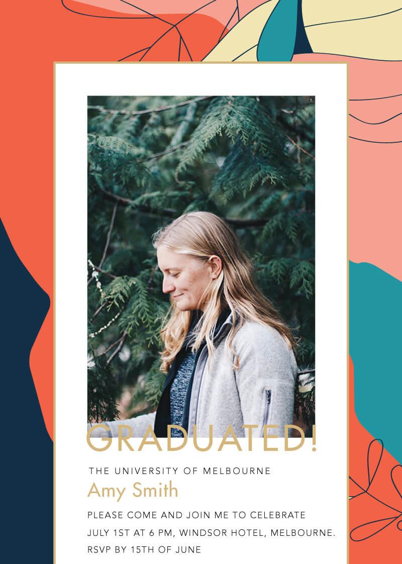 Abstract Graduation - Graduation Invitations & Announcements