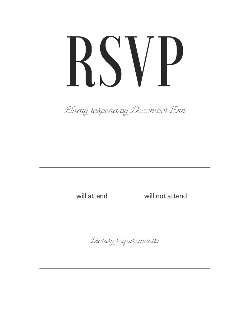 Paper Plane - RSVP Cards