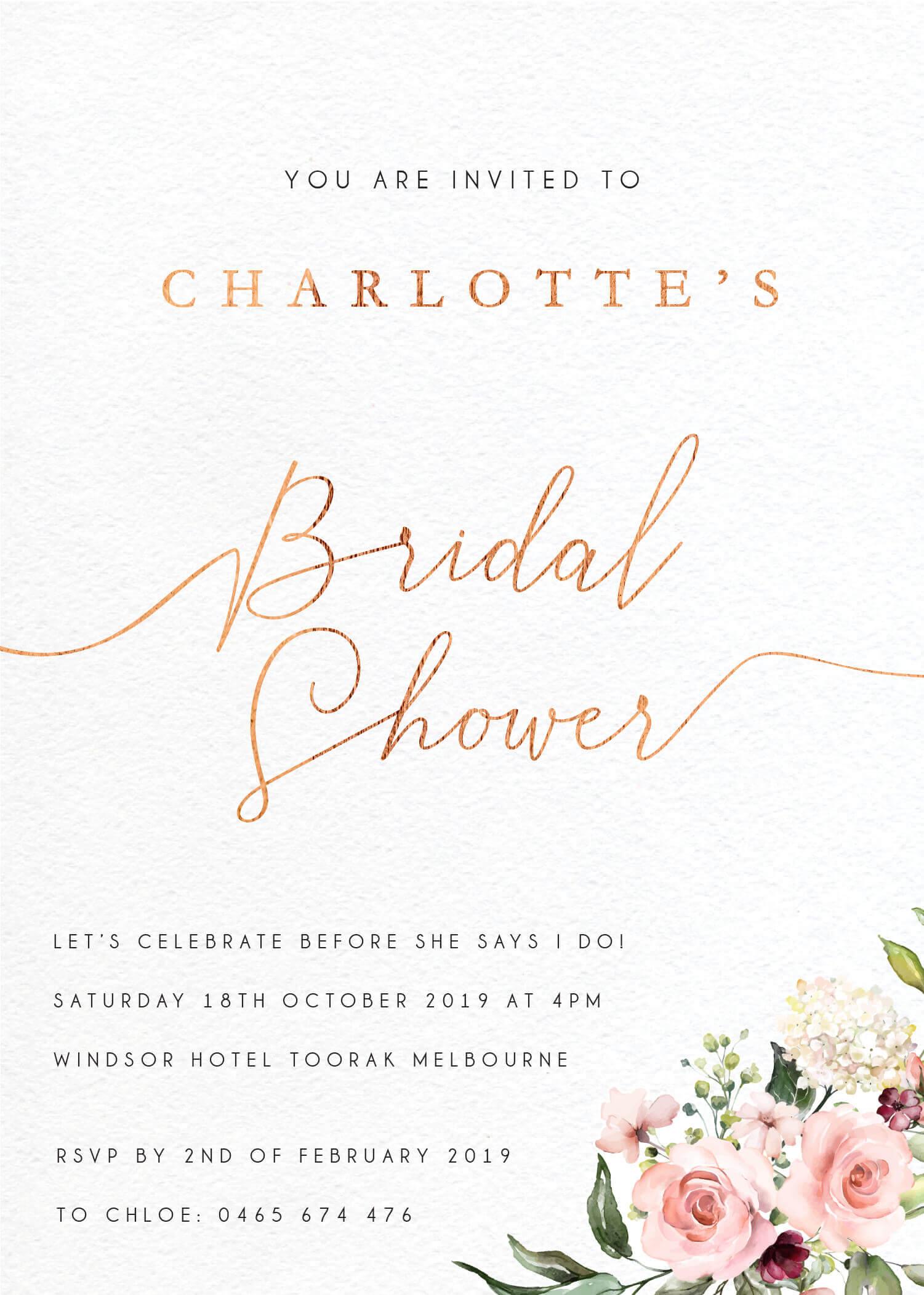 Burnt Butter Cakes - Bridal Shower Invitations