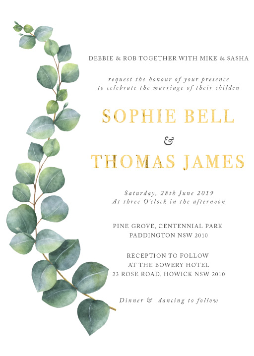 Eucalyptus Wedding Invitations - wedding invitations
