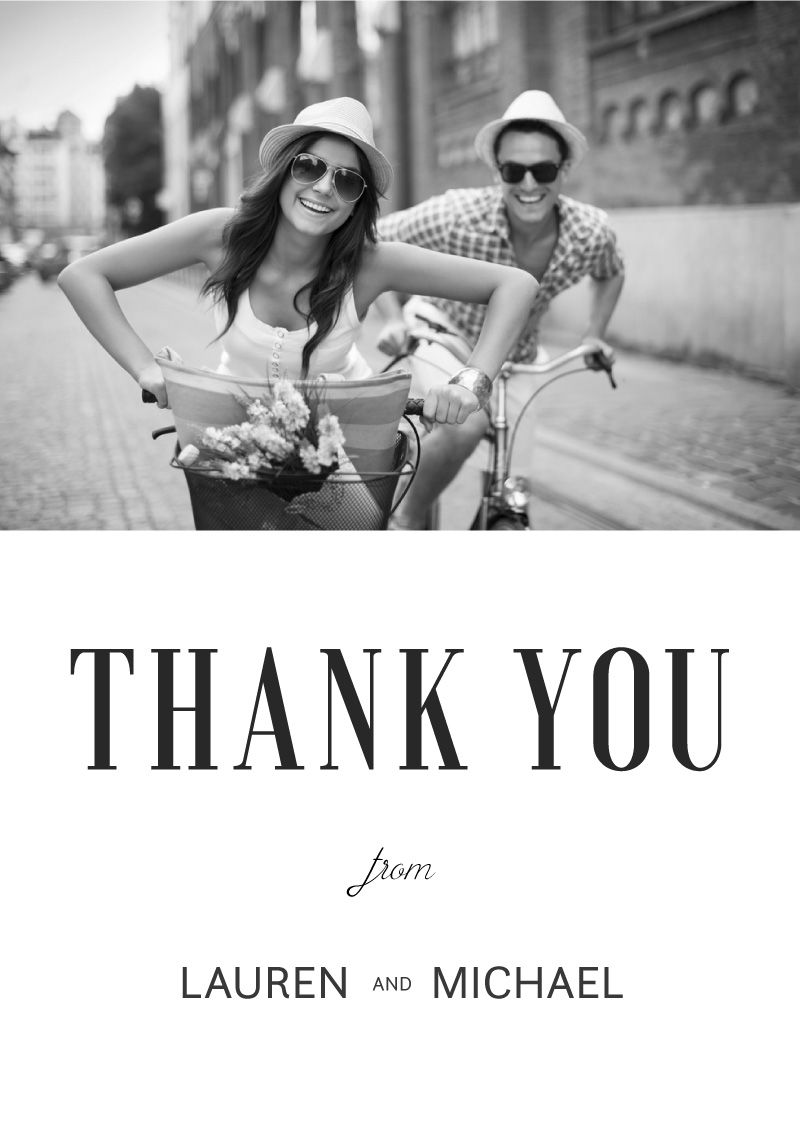 Paper Plane - Thank You Cards
