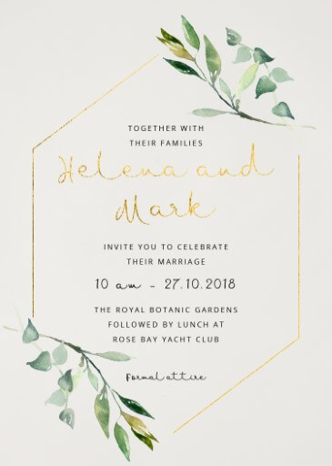 Garden Window Wedding Invitations - wedding invitations