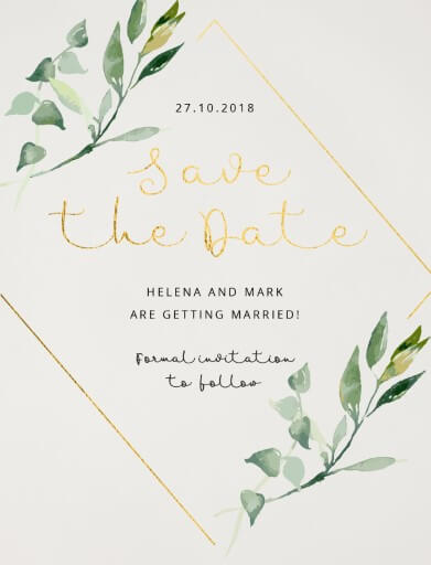 Garden Window Save The Date - Save The Date