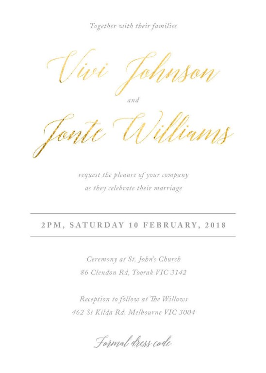 Pastel Script Wedding Invitations - wedding invitations