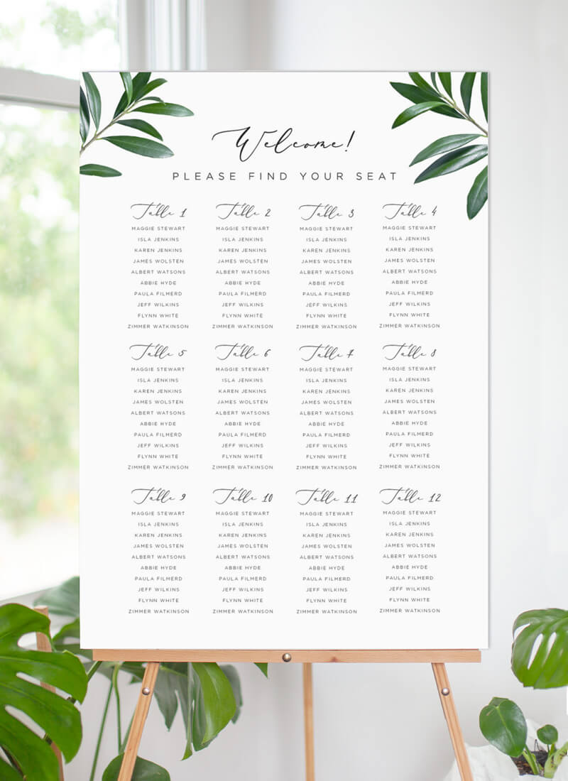 Olive - Seating Charts