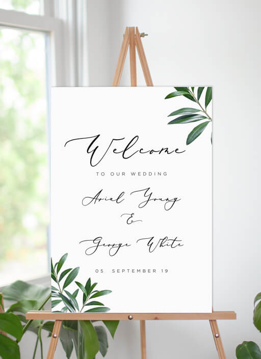 Olive - Wedding Signs