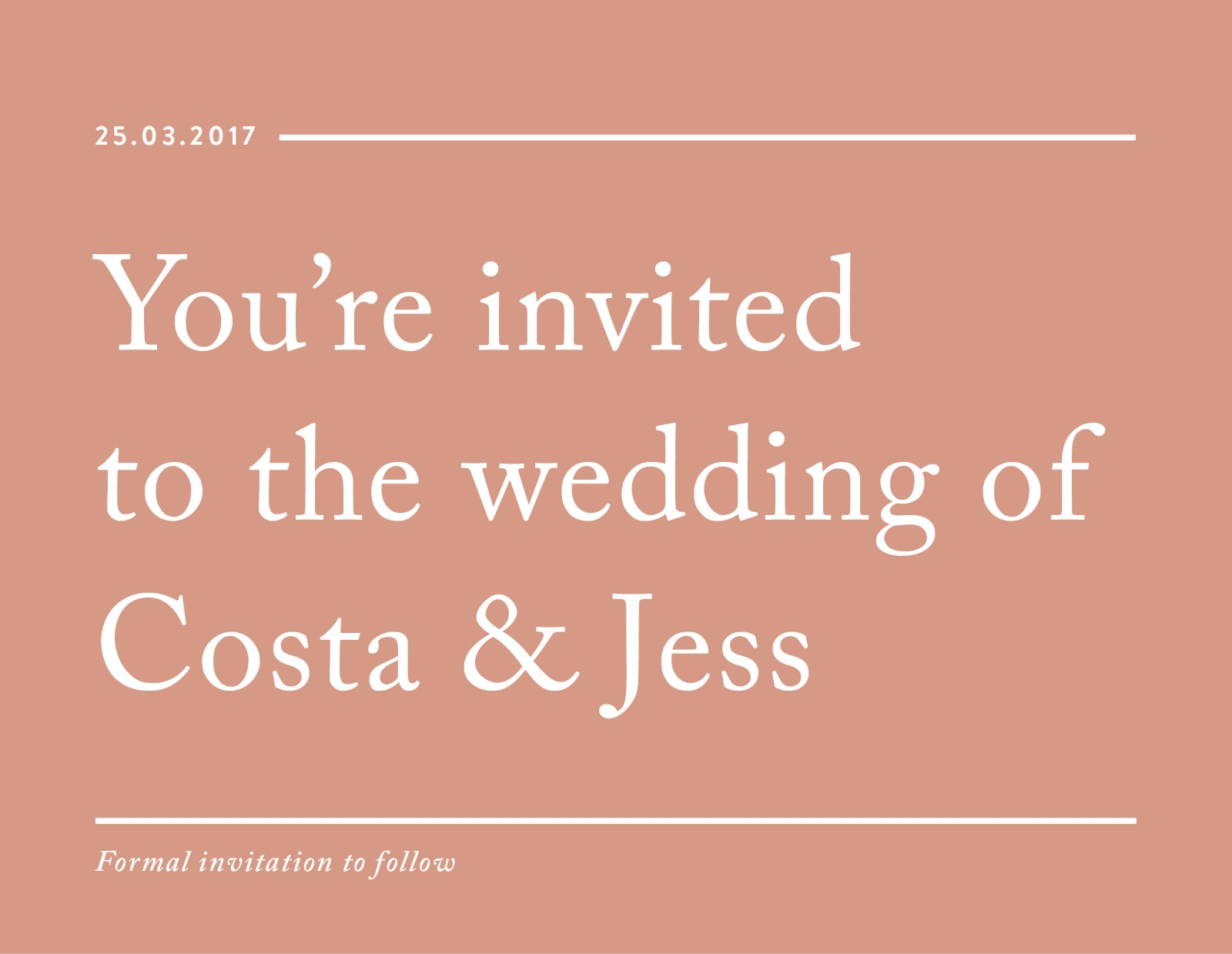 Cos - Save The Date