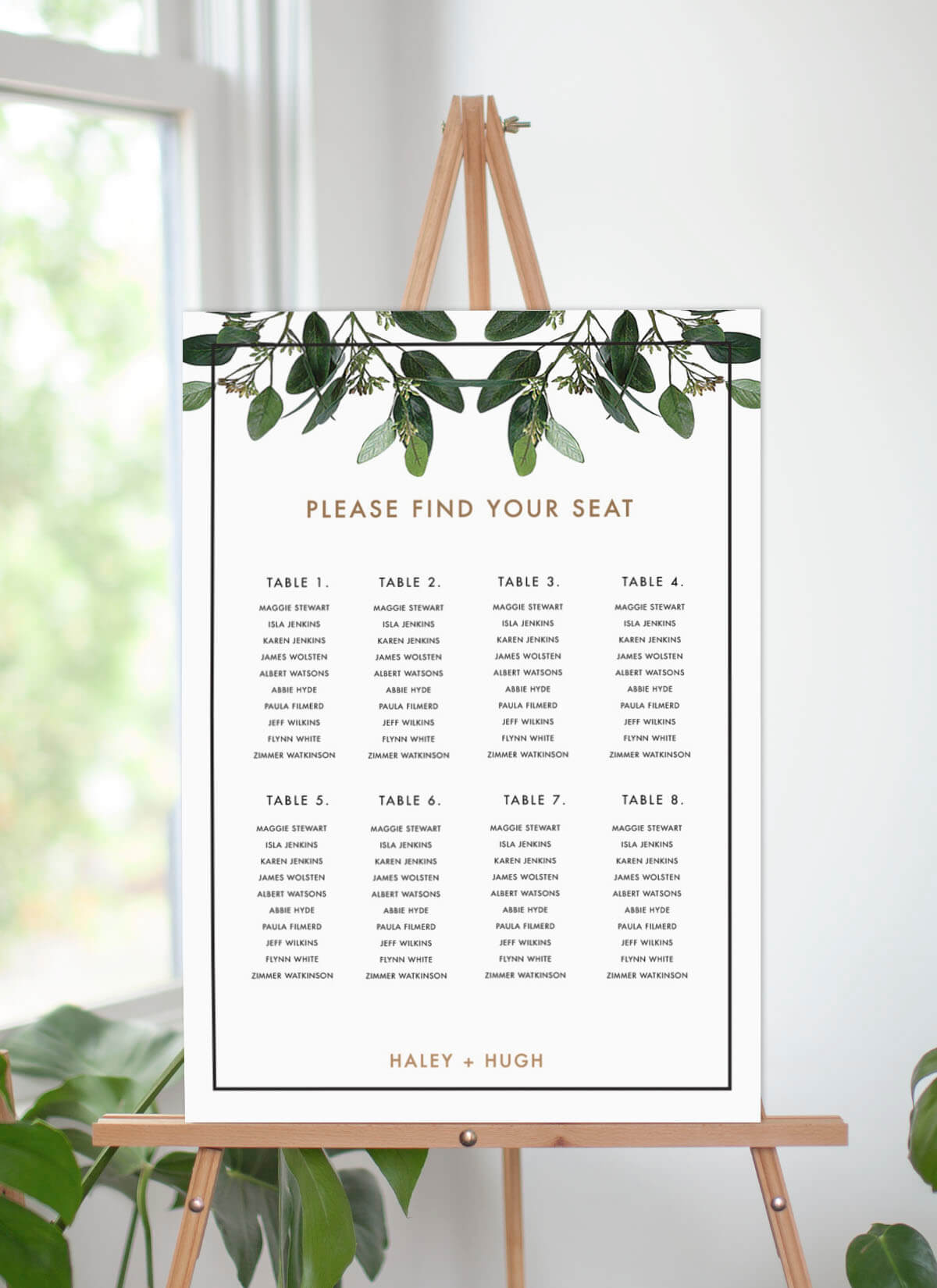 Garden Estate - Seating Charts