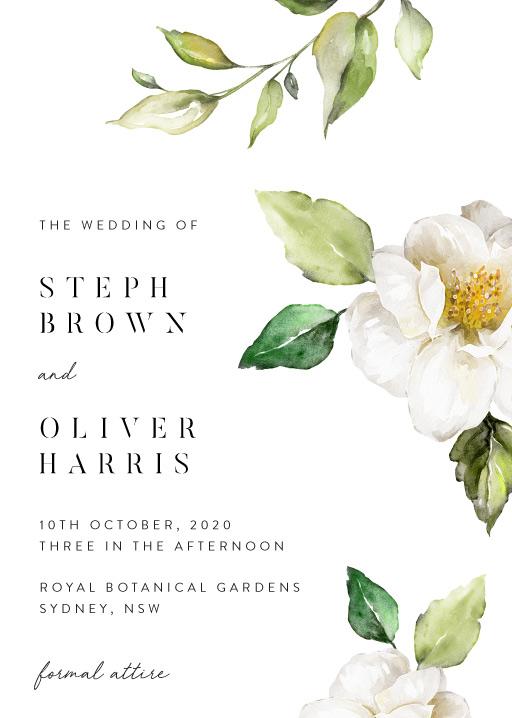 White Garden - wedding invitations