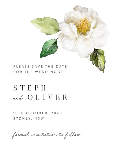 White Garden Save The Date - Save The Date