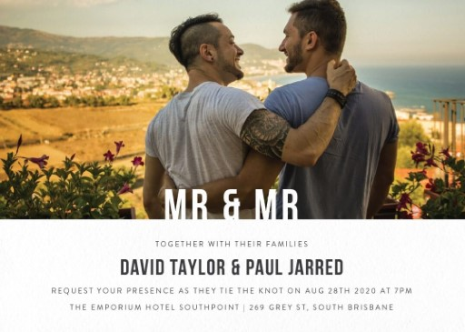 MR & MR - wedding invitations