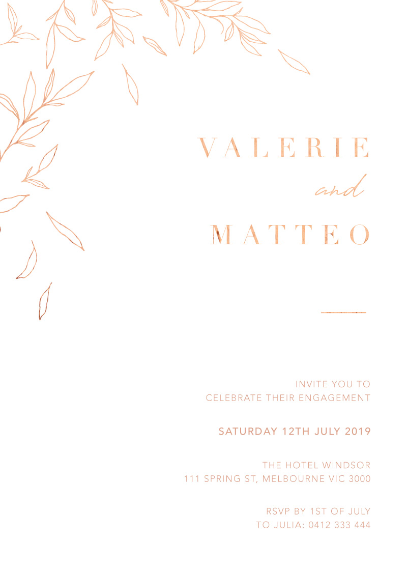 Modern Simplicity - Engagement Invitations