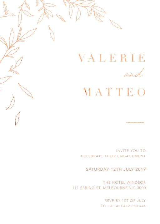 Modern Simplicity - engagement invitations