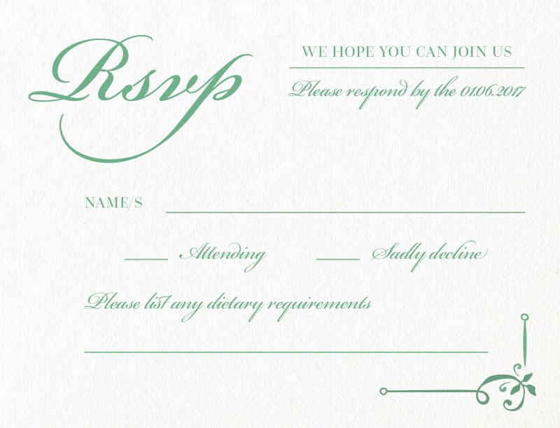 Vintage Cobalt - RSVP Cards