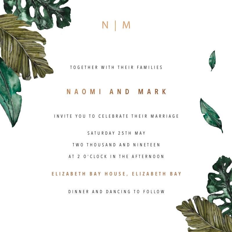 Moody Tropics - Wedding Invitations