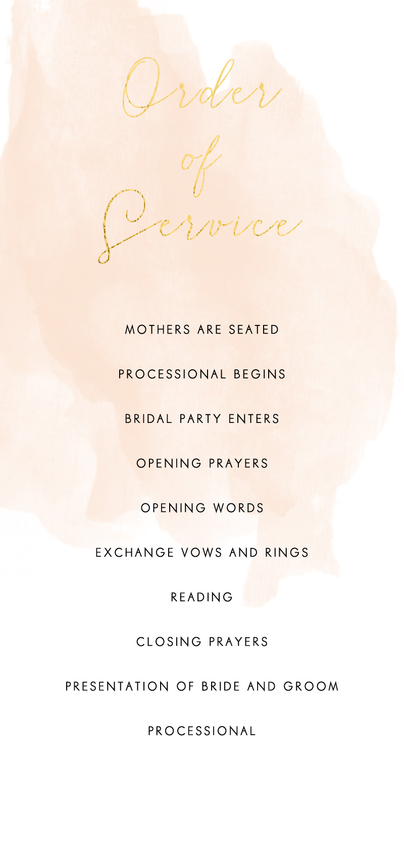 Rosey - Wedding Programs