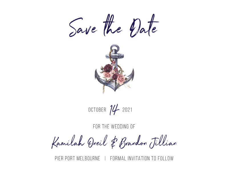 Flower Anchor - Save The Date