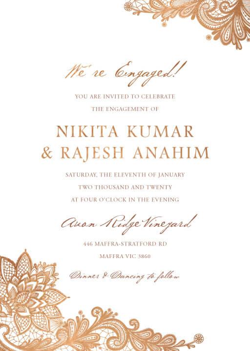 Tirumana Henna - engagement invitations