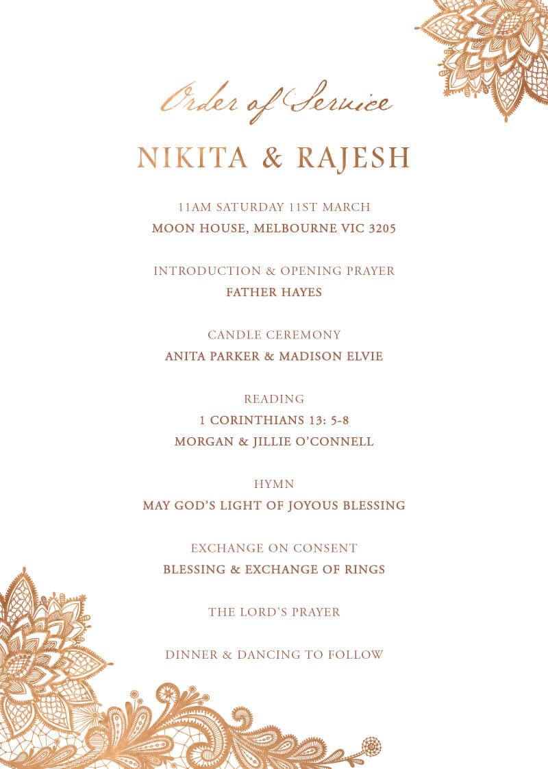 Tirumana Henna - Wedding Programs