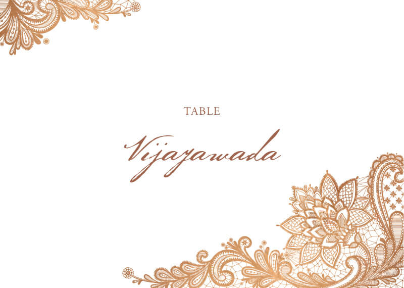 Tirumana Henna - Table Numbers
