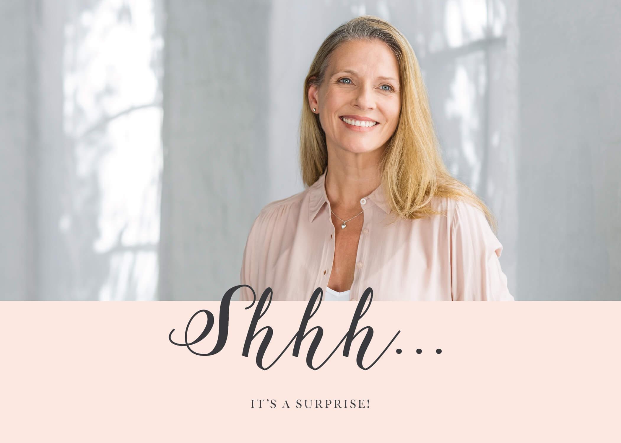 Milestone Surprise - Birthday Invitations